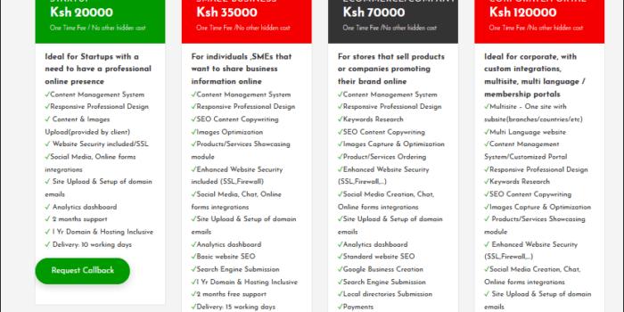website design cost in kenya in 2021