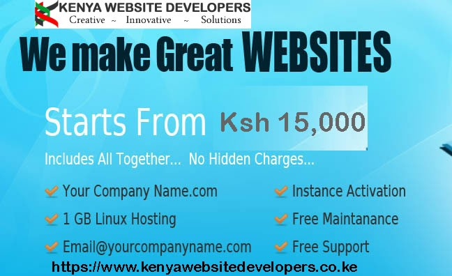 cheap website designers in Kenya